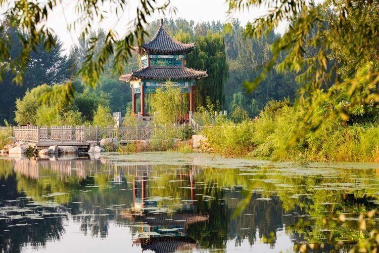 初秋下的青州尧王湖畔,在阵阵涟漪中体验湖光水色