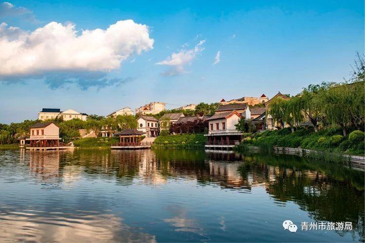 青州又美出了新高度,蓝天白云映古城!